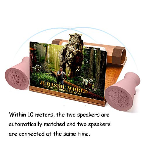 Mobile Phone Screen Magnifier, 3D Mobile Phone Amplifier, 12-Inch Fresnel Thread Lens, Lazy Collapsible Solid Wood Bracket, 4.2tws Bluetooth Speaker Package ()