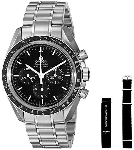 Omega Men s 31130423001006 Speedmaster Analog Display Mechanical Hand Wind Silver Watch