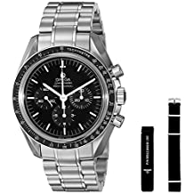 Omega Men's 31130423001006 Speedmaster Analog Display Mechanical Hand Wind Silver Watch