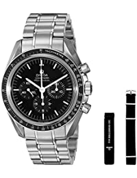 Men's 31130423001006 Speedmaster Analog Display Mechanical Hand Wind Silver Watch