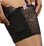 Bulldog Cases Concealed Lace Small Thigh Holster with Garter Straps (2-Pack), Black/White, Small