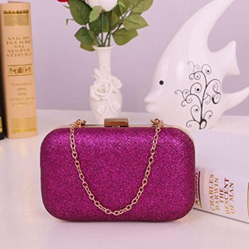 Wallet Clutch Fcostume Evening Shoulder Glitter Box Casual Hot Pink Bags Chain Party Women Bags Hand W7qnIH