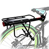 Viment 110 lbs Capacity Bicycle Rear Rack Adjustable Pannier Bike Luggage Cargo Rack Bicycle Carrier Racks with Reflective Logo