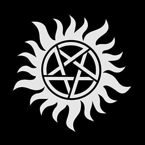 Devil's Trap Supernatural Sam Dean Winchester, Men's T-Shirt, Black, XX-Large