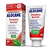 Alocane Emergency Burn Gel, 4% Lidocaine Maximum Strength Fast Pain and Itch Relief for Minor Burns, Sunburn, Kitchen, Radiation, Chemical, First Degree Burns, First Aid Treatment Burn Care 2.5 Fl Oz