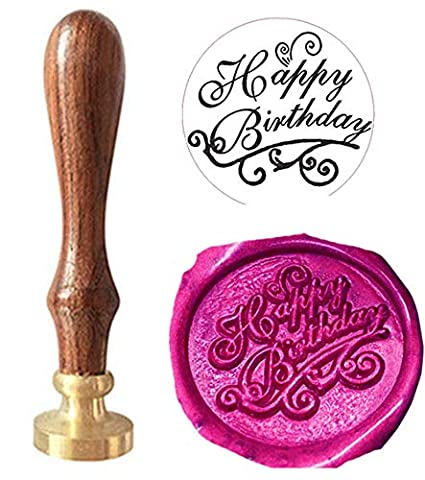 MNYR Happy Birthday Signature Monogram Wax Seal Sealing Stamp Calligraphy Embellishment Invitation Cards Snail