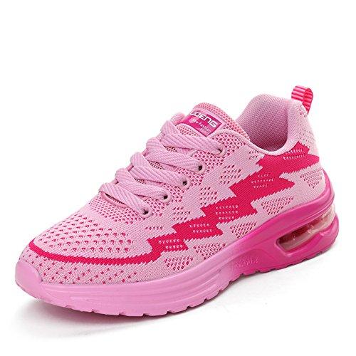 Femme Compétition Course De Chaussures Homme Gym Sport Running Basket Fitness Trail Air Entraînement Rose Jedvoo wTzEXB