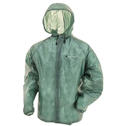629990658 Frogg Toggs Emergency Rain Jacket, Men's, Green, Size X-Large/XX