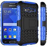 Voguecase® Per Samsung Galaxy Trend 2 Lite SM-G318H, Funda Duro Cover Case con supporto (blu) Con free Stilo Penna