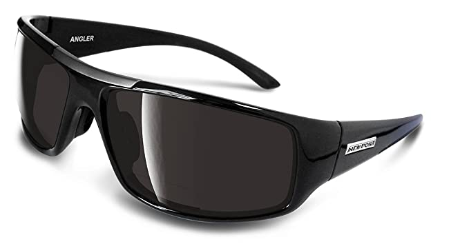 d282a50459 Newport Polarized Angler Black BiFocal with Smoke Lens +1.50  Amazon ...