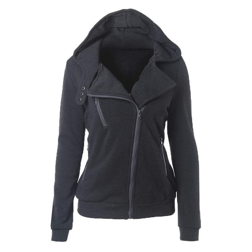 Spring Zipper Warm Hoodies Women Long Sleeve Hoodies Jackets Hoody Jumper Overcoat Outwear Female Sweatshirts,Aqua Green,L,China