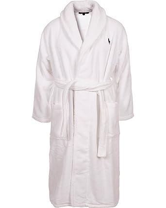 Ralph Lauren Men\'s Shawl Robe White Dressing Gown: Amazon.co.uk ...