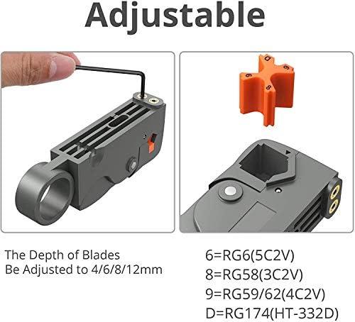 Kit de Herramientas para Prensar Pinza para Terminales de Alambre con Separador de Alambre y Conector Tipo 20 F Cable de Corte Ajustable para Cable ...