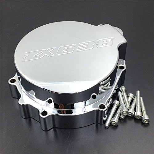 - XKMT-Billet Engine Stator Cover Compatible With Kawasaki Zx6R 636 2003-2004 Chromed Left Side [B00YYSJZB4]