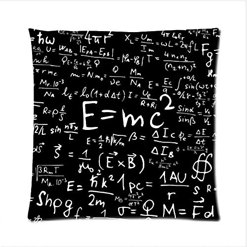 Oldeshop New Pillows E=Mc2 Magic Transforming Square Zippered Pillow Cases Throw Pillowcase 16