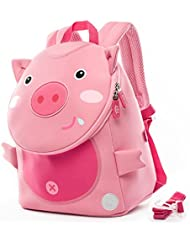 Toddler Kids Backpack Zoo Animals Baby Bag with Leash - Penguin,Pig by New Running
