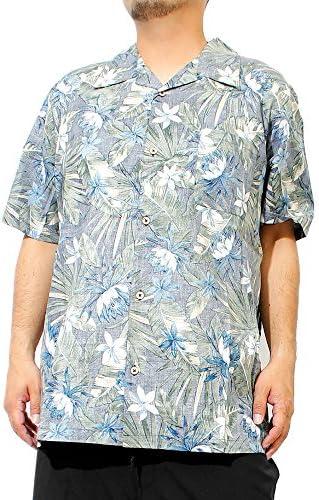 アロハシャツ メンズ 大きいサイズ 半袖シャツ 綿 コットン ボタニカル 花柄