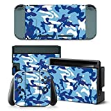 CAMO BLUE Nintendo Switch Controller Cover Skin Set for Console Dock Joy Con Vinyl Decal Sticker Protector by BR Review