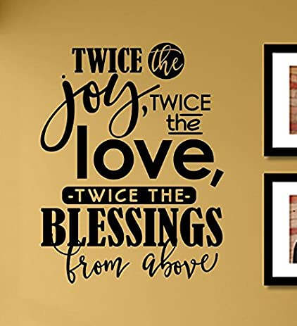 Amazon.com: Twice the joy twice the love twice the blessings from ...