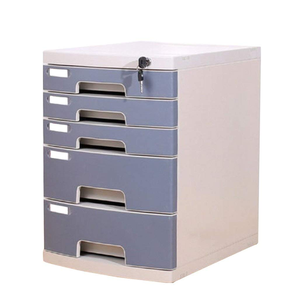 File cabinets Desktop Office Storage Box Plastic with Lock Drawer Flat
