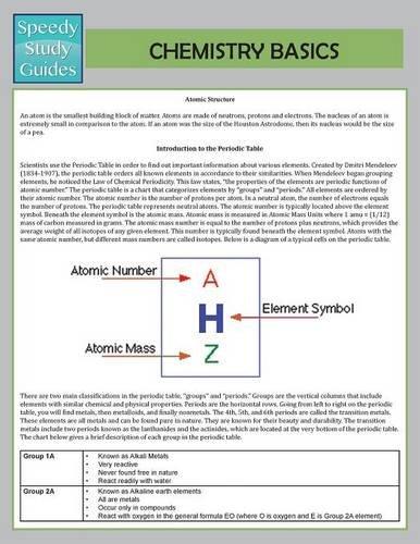 Chemistry Basics  (Speedy Study Guide) pdf epub