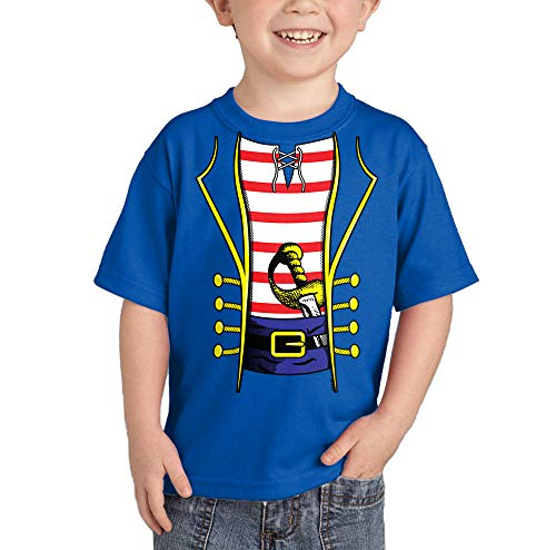 HAASE UNLIMITED Pirate Costume T-Shirt (Royal Blue, 3T) -