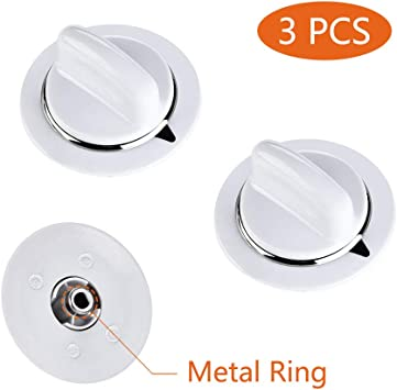 WE1M654 HEAVY DUTY Timer Knob for General Electric Dryer with Metal Ring Lifetime Appliance Parts 2 Pcs
