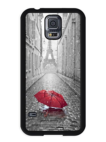 Price comparison product image Samsung S5 Phone Case,Alone In Paris 2 Popular Gifts Case Cover for Samsung Galaxy S5 (Black)