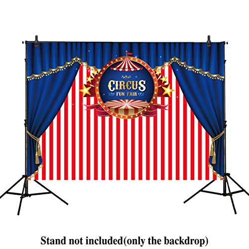 Allenjoy 7x5ft photography backdrop background Blue Curtain circus stratus Playground carnival Carousel party banner Newborn photo studio booth baby shower photocall