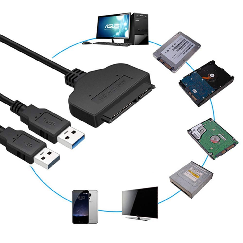 LOLOP SATA Cable USB3.0 Easy Drive Cable Computer Interface Data Cable SATA to USB3.0 Converter