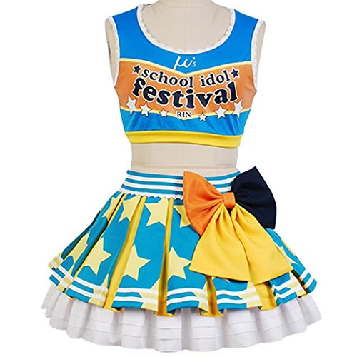 Costhat LoveLive! Rin Hoshizora Cheerleaders Suit Outfit Uniform Cosplay (Cheerleader Outfit Tumblr)