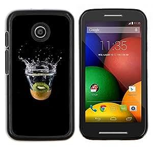 LECELL--Funda protectora / Cubierta / Piel For Motorola Moto E -- MINIMALISTA KIWI SPLASH --