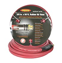 Workforce Air Hose, 3/8 in. x 50 ft., 1/4 Fittings, Rubber, Red - HRE3850RD2