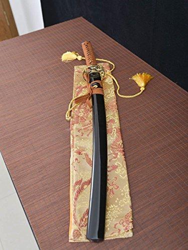 - Handmade Katana Full Tang Japanese Samurai Sword Damascus Folded Steel Blade Very Sharp Wakizashi Sword Dragon Tsuba