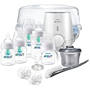 Philips Avent Anti-colic Baby Bottle with AirFree vent Gift Set All In One, SCD397/02ST