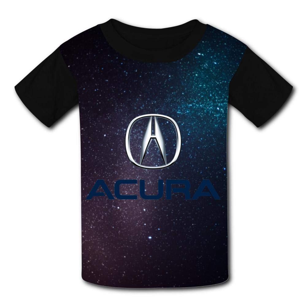 Boini Acura Car Logo Basic Daily Wear Cute Graphic Raglan T Shirts for Boys and Girls