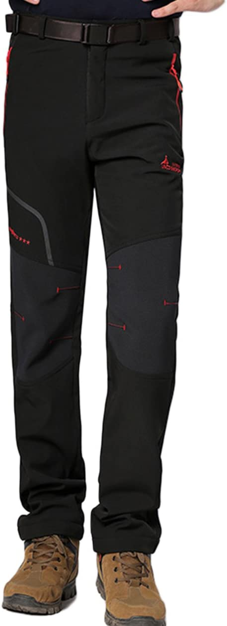 Para Invierno Pantalones De Senderismo Lakaka Pantalones De Trekking Para Hombre Pantalones Softshell Forrados Exteriores Resistentes Al Agua Ropa Deportes Y Aire Libre