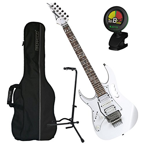 (Ibanez JEMJRL Steve Vai Signature JEM Series LEFT-HANDED Electric Guitar w/ Bag, Tuner, and Stand)