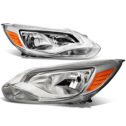 - For Ford Focus 3rd Gen Pair of OE Style Chrome Housing Amber Corner Headlight