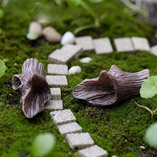Wall of Dragon Wood Stump Miniature Fairy Garden Home Houses Decoration Mini Craft Micro Landscaping Decor DIY Accessories ()