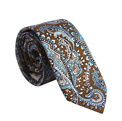 light blue and brown tie - 8