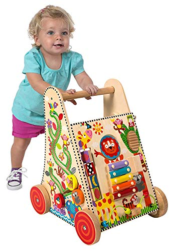 Alex Jr. Jungle Fun Activity Cart, My Busy Town Wooden Activity Cube and Count N Spin Abacus Robot, Playset, Alphabet, Matching, Sensory, Math, Counting, Numbers, Colors, Early Learning, Educational by ALEX Jr. Toys (Image #3)