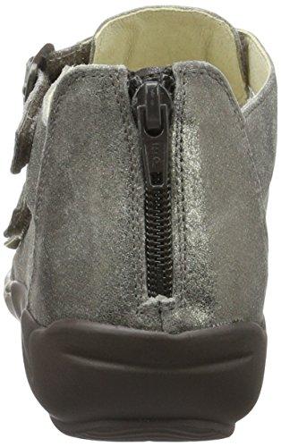 Waldläufer Hilena 582001 - Sandalias de punta descubierta, Mujer Gris (Peltro)