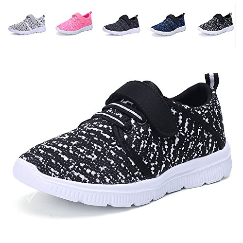 CIOR Kids Lightweight Breathable Sneakers Easy walk Casual Sport Shoes for Boys Girls