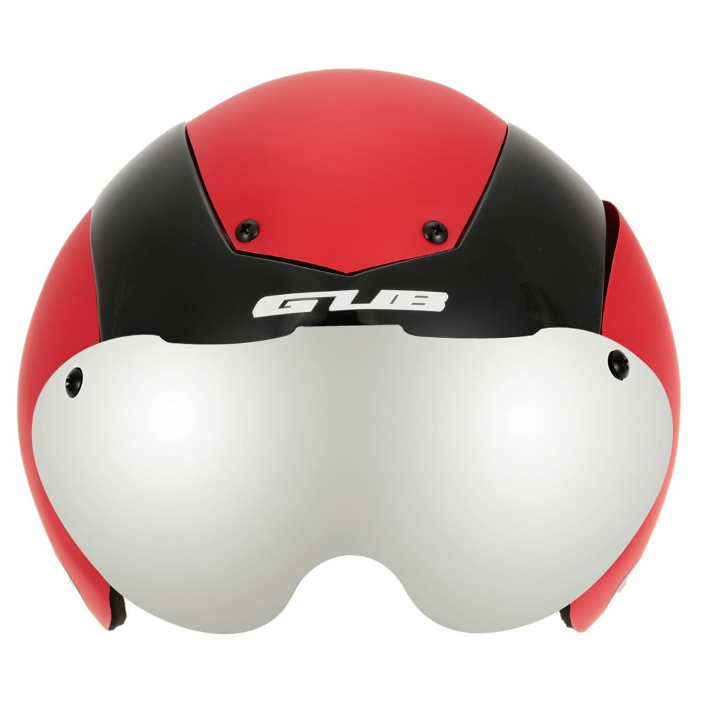 Unisex Cycling Helmet Ultralight Integrally-molded 13 Vents Bicycle Helmet Bike Skating 2 in 1 Helmet with Goggles - Red by New Brand (Image #1)