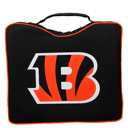NFL Lightweight Stadium Bleacher Seat Cushion with Carrying Strap, Cincinnati Bengals