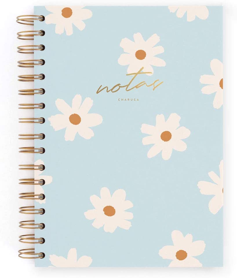 Cuaderno A5 Charuca. Floral blue