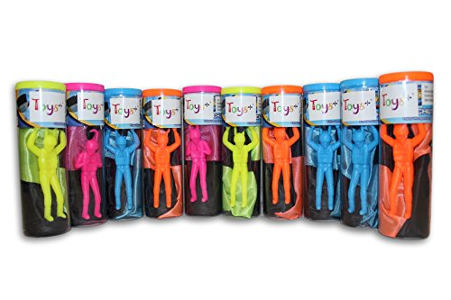 Toys+ Skydiver Parachute Men 10 Piece Party ()