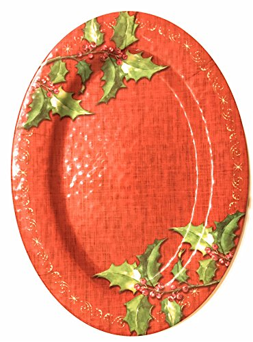 - Christmas Serving Platter - Red Oval Serving Tray - Beautiful and Durable - LIMITED INVENTORY