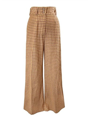 1920s Style Women's Pants, Trousers, Knickers, Tuxedo Suuchi Custom Wide-Leg High-Waist Pants $85.00 AT vintagedancer.com